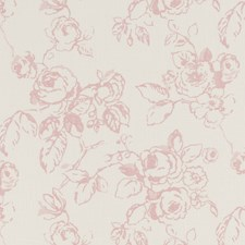 Rose Floral Large Drapery and Upholstery Fabric by Clarke & Clarke