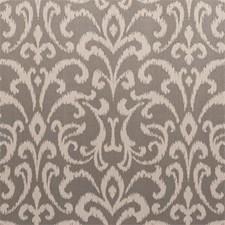 Smoke Damask Drapery and Upholstery Fabric by Clarke & Clarke