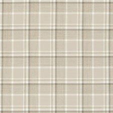 Natural Plaid Drapery and Upholstery Fabric by Clarke & Clarke