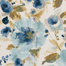 Mineral Floral Large Drapery and Upholstery Fabric by Clarke & Clarke