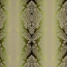 Olive Damask Drapery and Upholstery Fabric by Clarke & Clarke