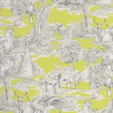 Toile Citrus Drapery and Upholstery Fabric by Clarke & Clarke