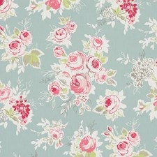 Garden Aqua Drapery and Upholstery Fabric by Clarke & Clarke