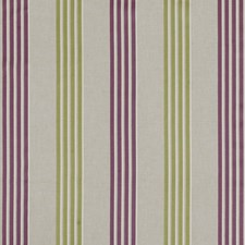 Violet/Citrus Stripes Drapery and Upholstery Fabric by Clarke & Clarke