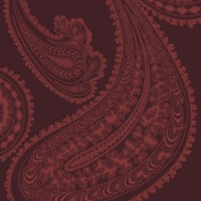 Rse On Drk Crim Paisley Drapery and Upholstery Fabric by Cole & Son