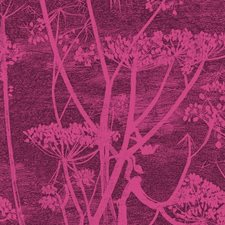 Magnta Plm Botanical Drapery and Upholstery Fabric by Cole & Son
