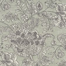 Sage Floral Large Drapery and Upholstery Fabric by Clarke & Clarke