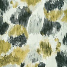 Charcoal/Chartreuse Drapery and Upholstery Fabric by Clarke & Clarke