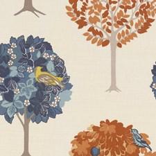 Denim/Spice Drapery and Upholstery Fabric by Clarke & Clarke