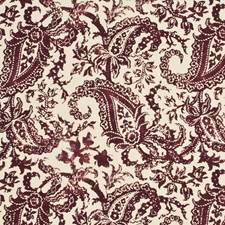 Ruby Print Drapery and Upholstery Fabric by Mulberry Home