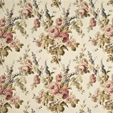 Antique/Rose Print Drapery and Upholstery Fabric by Mulberry Home