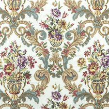 Fig/Teal Embroidery Drapery and Upholstery Fabric by Mulberry Home