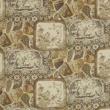 Spice Print Drapery and Upholstery Fabric by Mulberry Home
