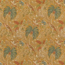 Spice Botanical Drapery and Upholstery Fabric by Mulberry Home