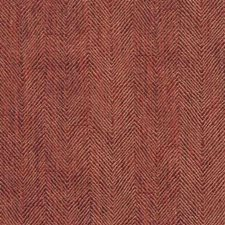Berry Herringbone Drapery and Upholstery Fabric by Mulberry Home