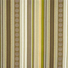 Taupe/Stone/Lime Stripes Drapery and Upholstery Fabric by Mulberry Home