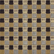 Black/Bronze Geometric Drapery and Upholstery Fabric by Mulberry Home