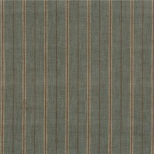 Aqua Stripes Drapery and Upholstery Fabric by Mulberry Home