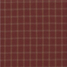 Red Check Drapery and Upholstery Fabric by Mulberry Home