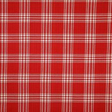 Red Check Drapery and Upholstery Fabric by Pindler