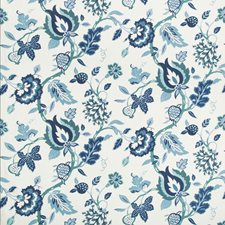 Azure Botanical Drapery and Upholstery Fabric by Kravet