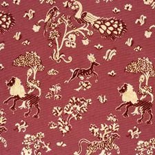 Forest Fables-Poppy Animal Drapery and Upholstery Fabric by Lee Jofa