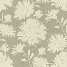 Silver Botanical Drapery and Upholstery Fabric by Kravet