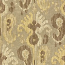 Grey/Beige/Yellow Ethnic Drapery and Upholstery Fabric by Kravet