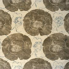 Dove Botanical Drapery and Upholstery Fabric by Groundworks