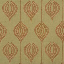 Sand/Coral Modern Drapery and Upholstery Fabric by Groundworks