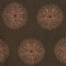 Ash/Coral Print Drapery and Upholstery Fabric by Groundworks