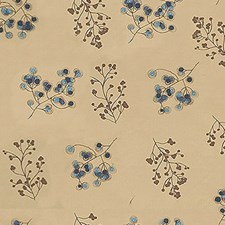 Camel Botanical Drapery and Upholstery Fabric by Groundworks