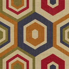 Multi Geometric Drapery and Upholstery Fabric by Groundworks