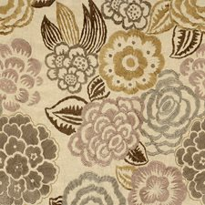 Lilac/Taupe Embroidery Drapery and Upholstery Fabric by Groundworks