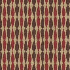 Red Ikat Drapery and Upholstery Fabric by Groundworks