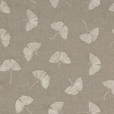Grey Botanical Drapery and Upholstery Fabric by Groundworks