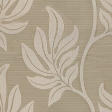Beige Botanical Drapery and Upholstery Fabric by Groundworks