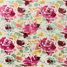 Pink/Sage Botanical Drapery and Upholstery Fabric by Groundworks