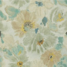 Mist Botanical Drapery and Upholstery Fabric by Groundworks