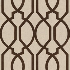 Brown Lattice Drapery and Upholstery Fabric by Groundworks