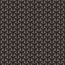 Black/Linen Geometric Drapery and Upholstery Fabric by Groundworks