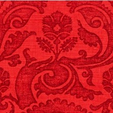 Scarlet Damask Drapery and Upholstery Fabric by Groundworks