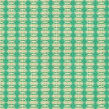 Aqua Geometric Drapery and Upholstery Fabric by Groundworks