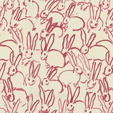 Pink Animal Drapery and Upholstery Fabric by Groundworks