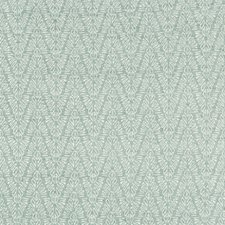 Aqua Herringbone Drapery and Upholstery Fabric by Groundworks