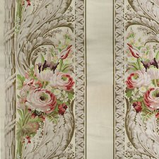 Rose/Green/Ivory Drapery and Upholstery Fabric by Scalamandre