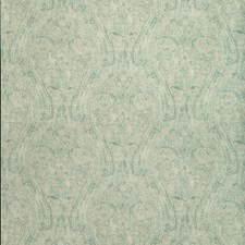Ivory/Turquoise Paisley Drapery and Upholstery Fabric by Kravet