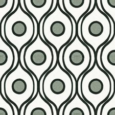 White/Black/Grey Bargellos Drapery and Upholstery Fabric by Kravet