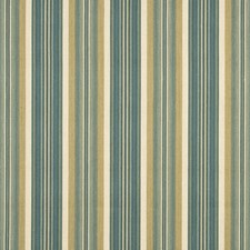 Aqua/Biscuit Stripes Drapery and Upholstery Fabric by G P & J Baker