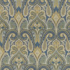 Blue/Yellow/Green Paisley Drapery and Upholstery Fabric by Kravet